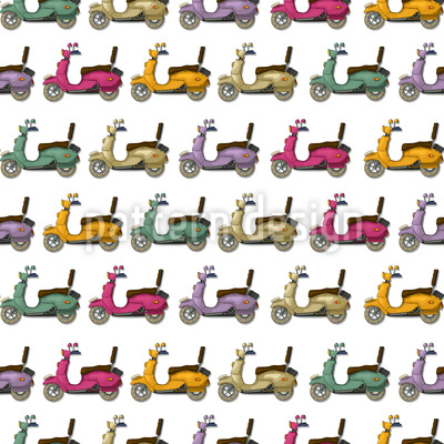Scooty Doo Seamless Vector Pattern