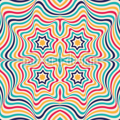 Clown Kaleidoscope Vector Ornament