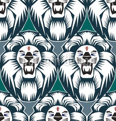 Der Löwe Ist Der König Vektor Design