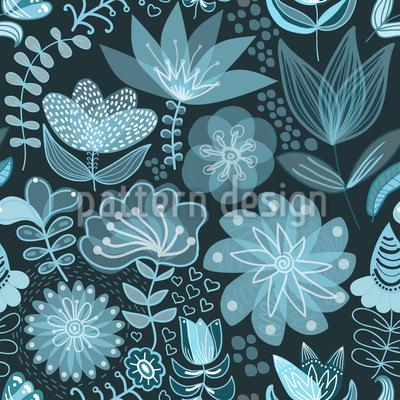 Die Transparenz Der Nachtblumen Rapportiertes Design
