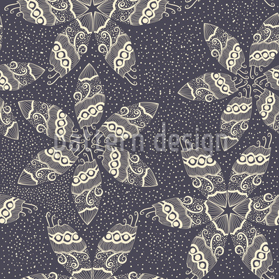 Star Flowers In Snow Pattern Design