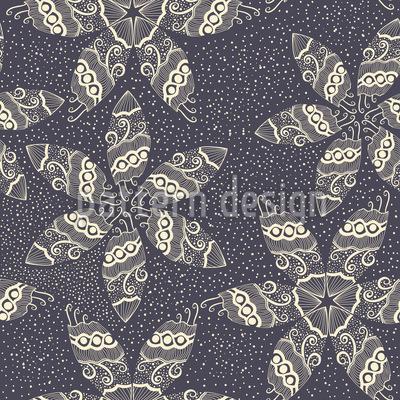 Sternblumen Im Schneegestöber Musterdesign