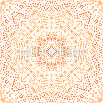 Safran Mandala Nahtloses Muster