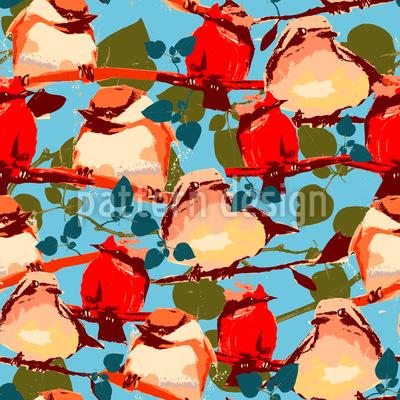 Speed Dating Der Vögel Nahtloses Vektor Muster