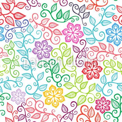 Die Blumenfreuden Des Sommers Muster Design