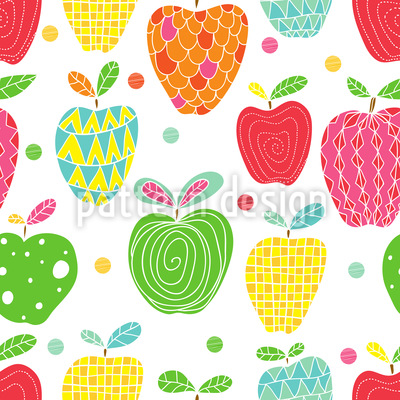 Apfel Kunst Nahtloses Muster
