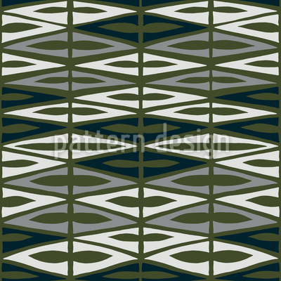 Chequered Garden Green Repeat Pattern