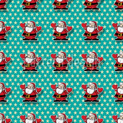 Weihnachtsmann Im Glück Vektor Ornament