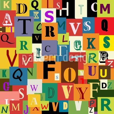 Alphabet Vektor Muster