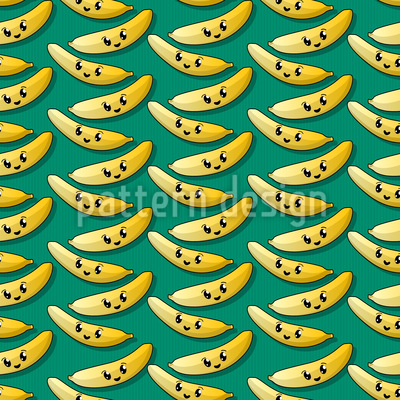 Happy Banana Pattern Design
