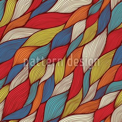 Rusalkas Lustige Zöpfchen Nahtloses Muster