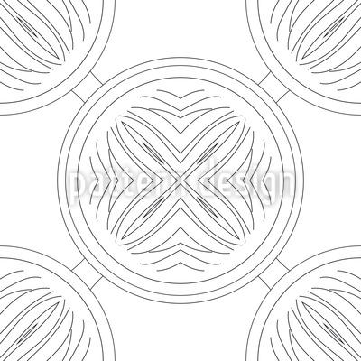 Departure Of The Circles Vector Pattern
