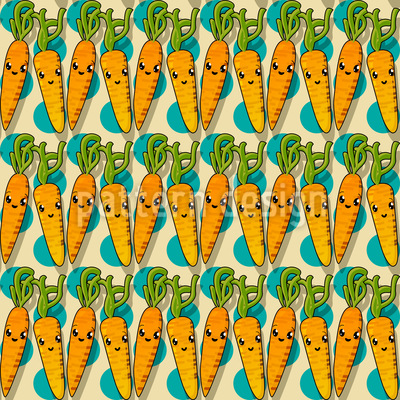 Kawaii Carrot Pattern Design