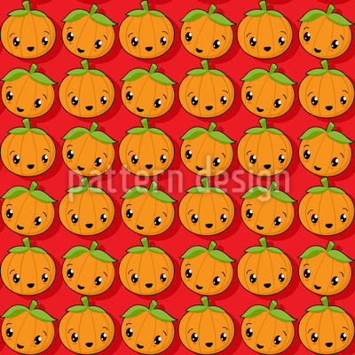 Kawaii Pumpkin Design Pattern