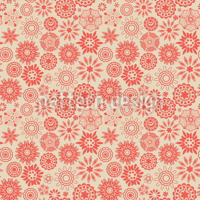 Floral Star Magic Vector Pattern