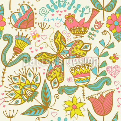 If Katja Dreams Pattern Design
