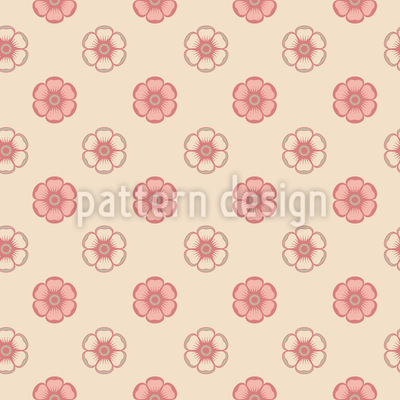 Delicate Enamel Roses Seamless Pattern