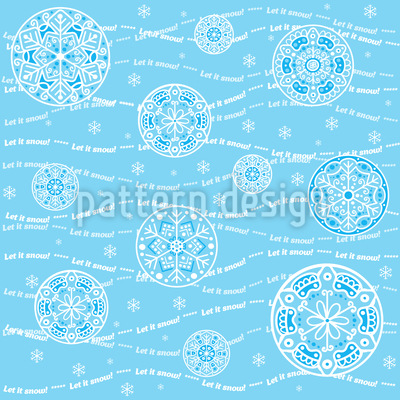 Let It Snow Repeating Pattern