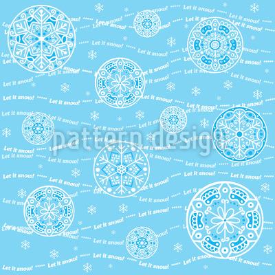 Let It Snow Rapportiertes Design