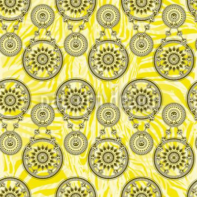 Mehndi Yellow Repeating Pattern