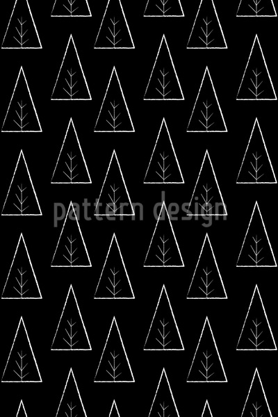 Trees At Night Repeat Pattern