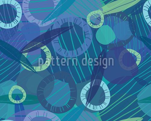 Rhapsodie Der Ringe Nahtloses Vektor Muster