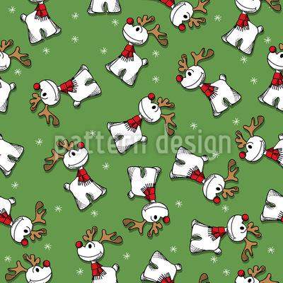 Rudolph Mit Der Roten Nase Rapportmuster