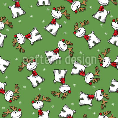 Rudolph The Red Nosed Reindeer Repeat Pattern