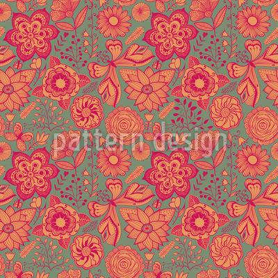 Schmetterling Fantasien Rapportiertes Design
