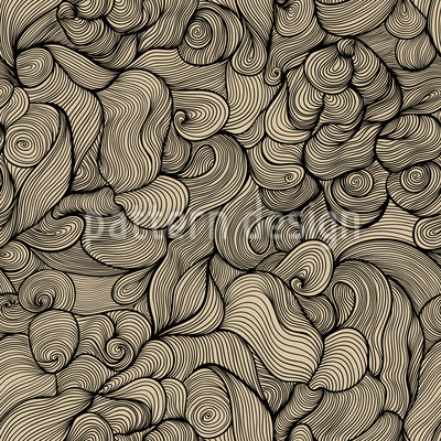 The Hair Of The Sirens Seamless Pattern