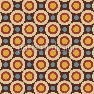 Retro Stars And Circles  Pattern Design