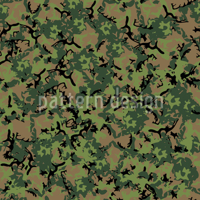 Forest Camouflage Vector Ornament