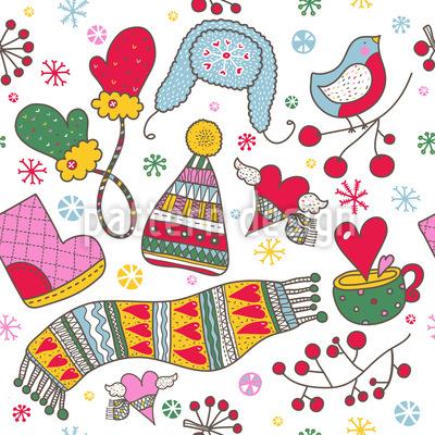 Wir Lieben Den Kalten Winter Vektor Ornament