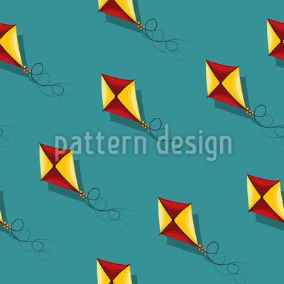 Drachen Fliegen Nahtloses Vektor Muster