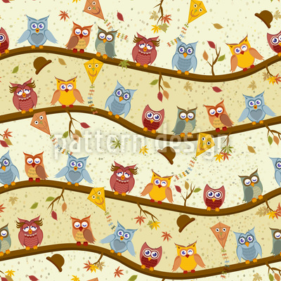 Owl Hotel Pattern Design