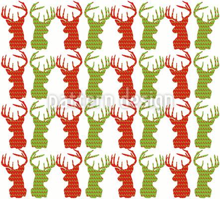 Deer Talk Vector Ornament