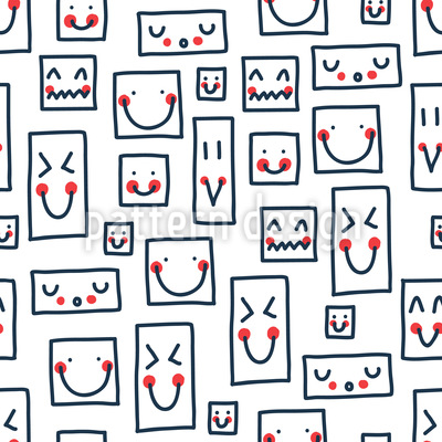 Smiley To The Square Seamless Vector Pattern
