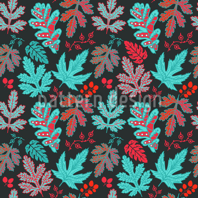 Leaf Baroque In Fire And Ice Vector Design