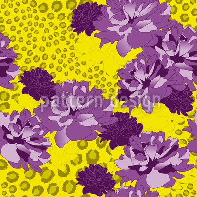 Floral Leopard Repeating Pattern