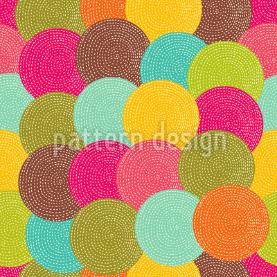 Party Circles Of The Aboriginals Design Pattern