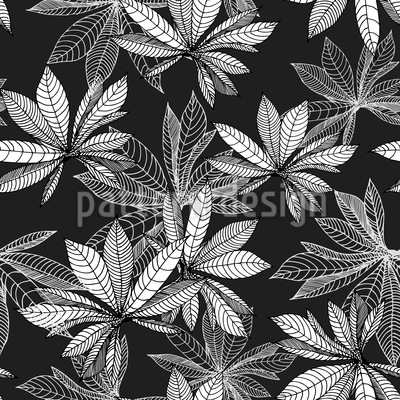 I Dreamed Of Chestnut Leaves Repeating Pattern
