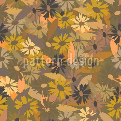 Wild Wachsen Gänseblümchen Muster Design