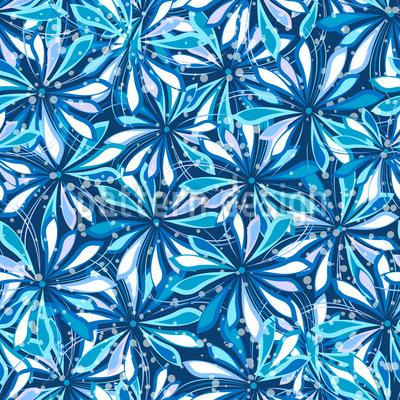Ozean Der Blumen Musterdesign