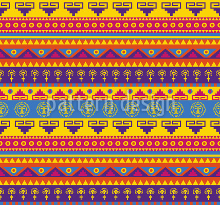 Lustiger Inka Print Nahtloses Vektor Muster
