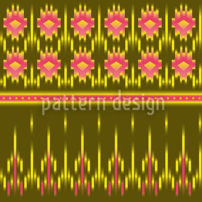 Multikulti Ikat Vektor Ornament