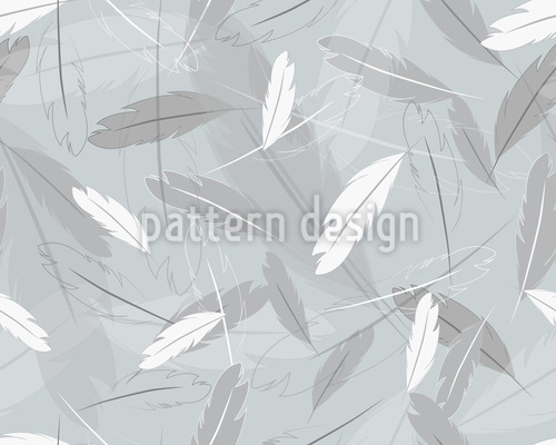Feathers In The Wind Vector Ornament