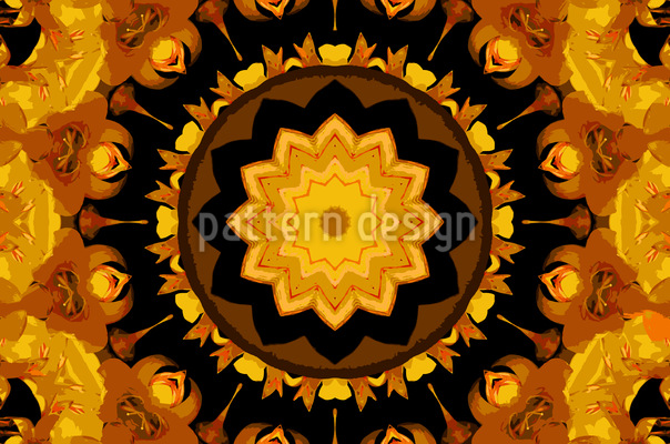 Star In Kaleidoscope Repeat Pattern