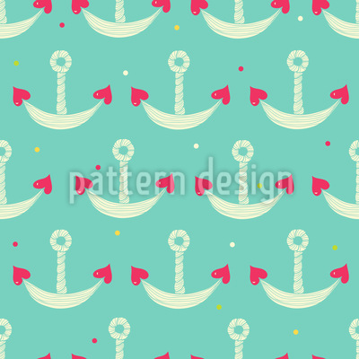 Anchor With Heart Vector Ornament