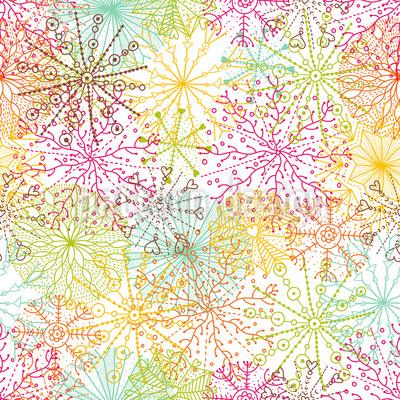 Korallen Sterne Rapportiertes Design