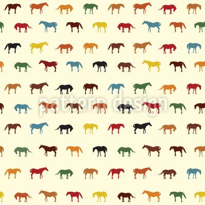 Pferde Nation Rapportiertes Design